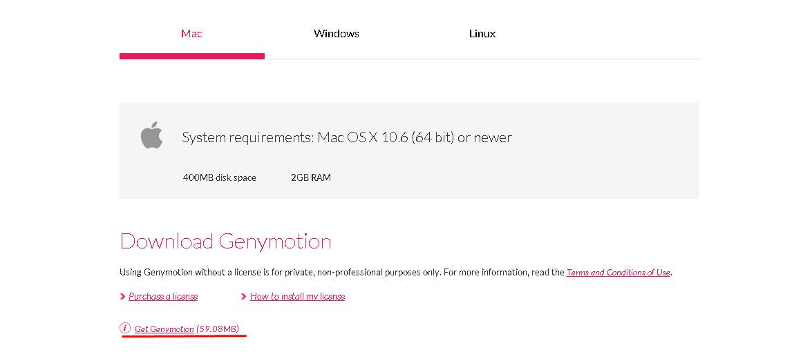 Genymotion-Mac