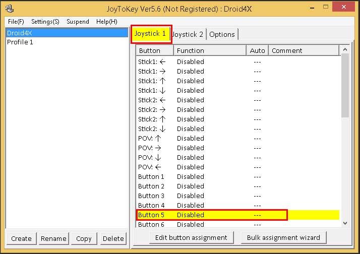 Настройка управления джойстиком(gamepad) в Droid4X