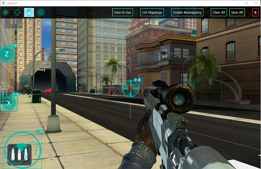 Вид игры в LeapDroid