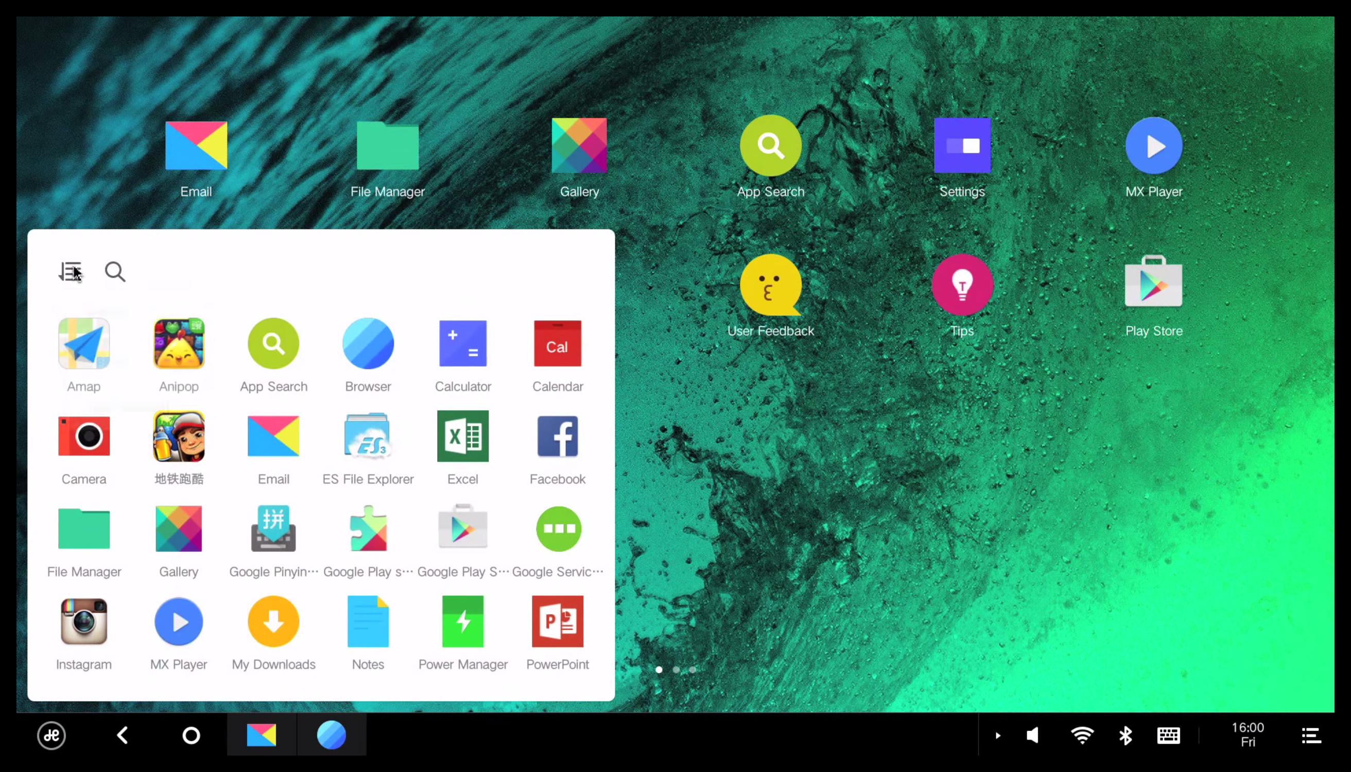 Внешний вид Remix OS