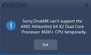 Установка Droid4X на AMD процессорах