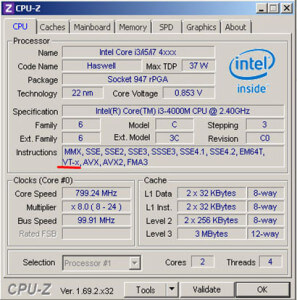 Intel CPU-Z