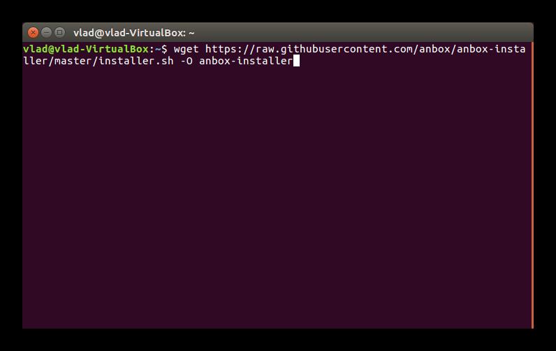 Загрузка пакета Anbox Ubuntu